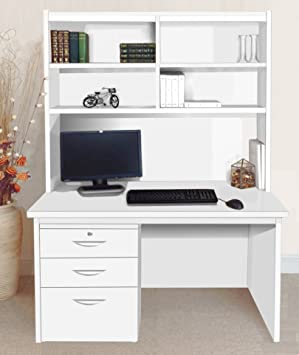 Amazing B Rdp Oi In Wh White Computer Desk Table With Filing Cabinet Download Free Architecture Designs Scobabritishbridgeorg