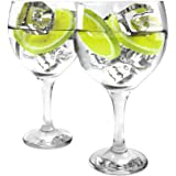 Ginsanity Set of 2 Gin Balloon Glasses 22oz (645ml) Cocktail/Celebration/Special Occasion/G&T
