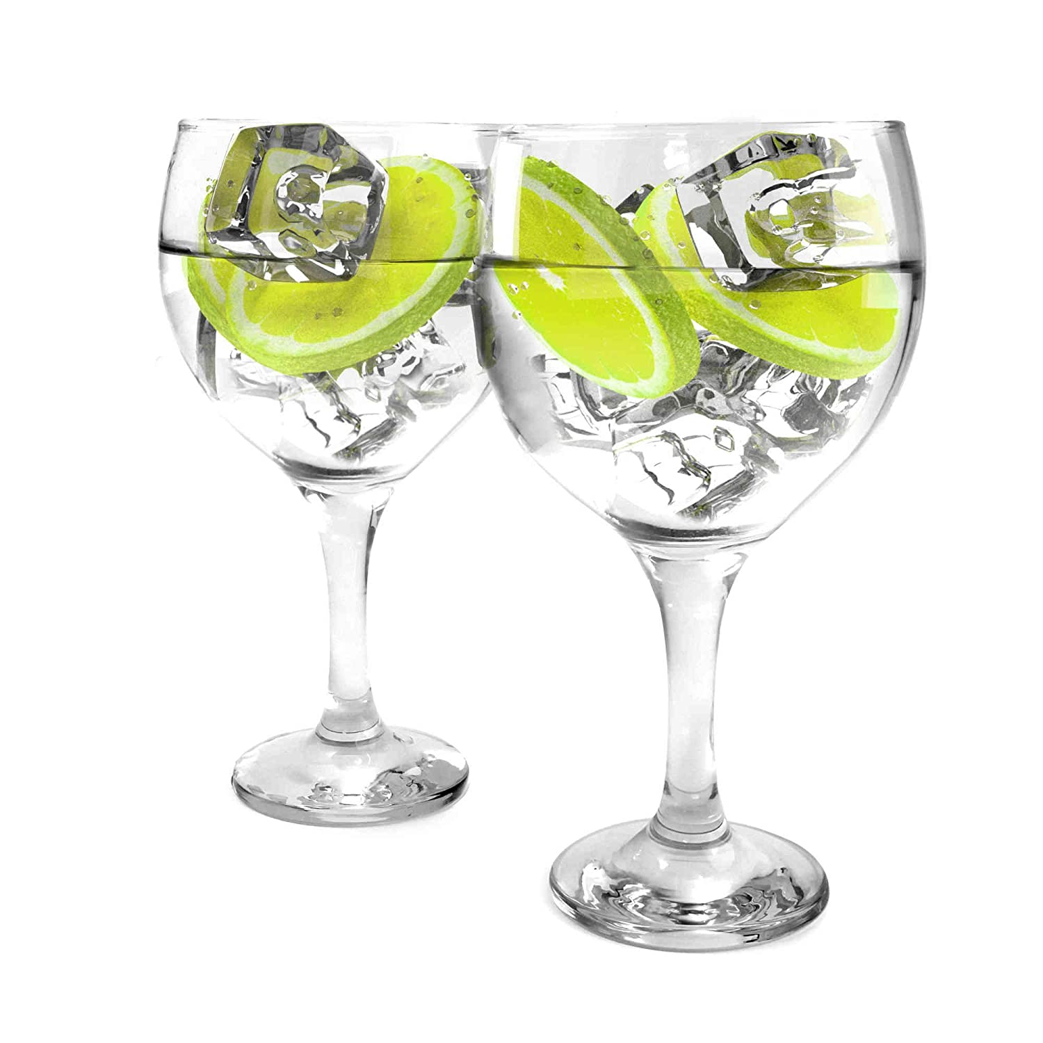 Ginsanity Set of 2 - Personalised/Engraved Classic 22 oz Gin Balloon Glass Celebration/Special Occasion/Toast