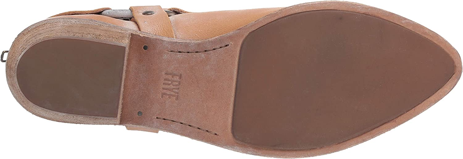 Frye Womens Ray Harness Back Zip Ankle Boot