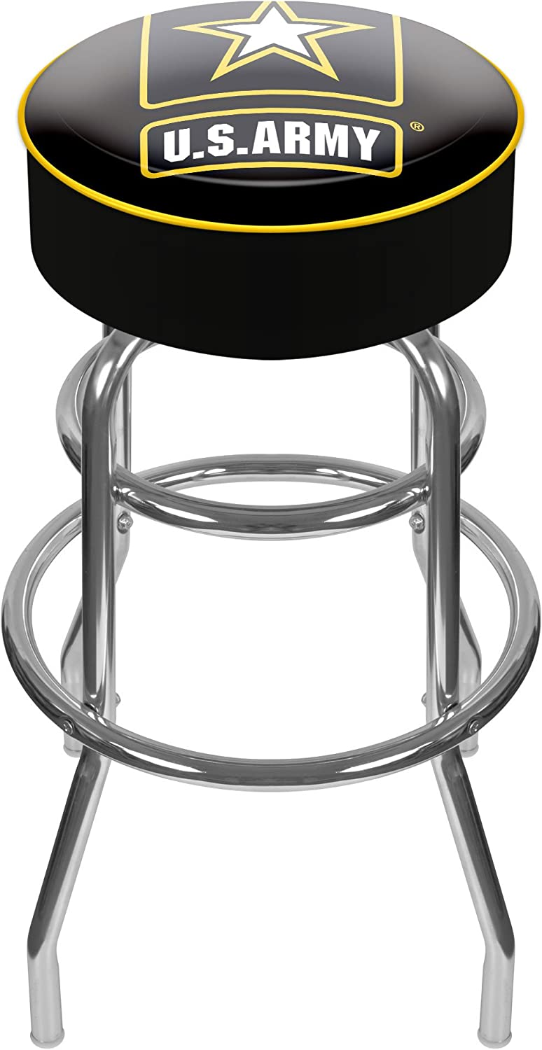 United States Army Silhouette II Padded Swivel Bar Stool
