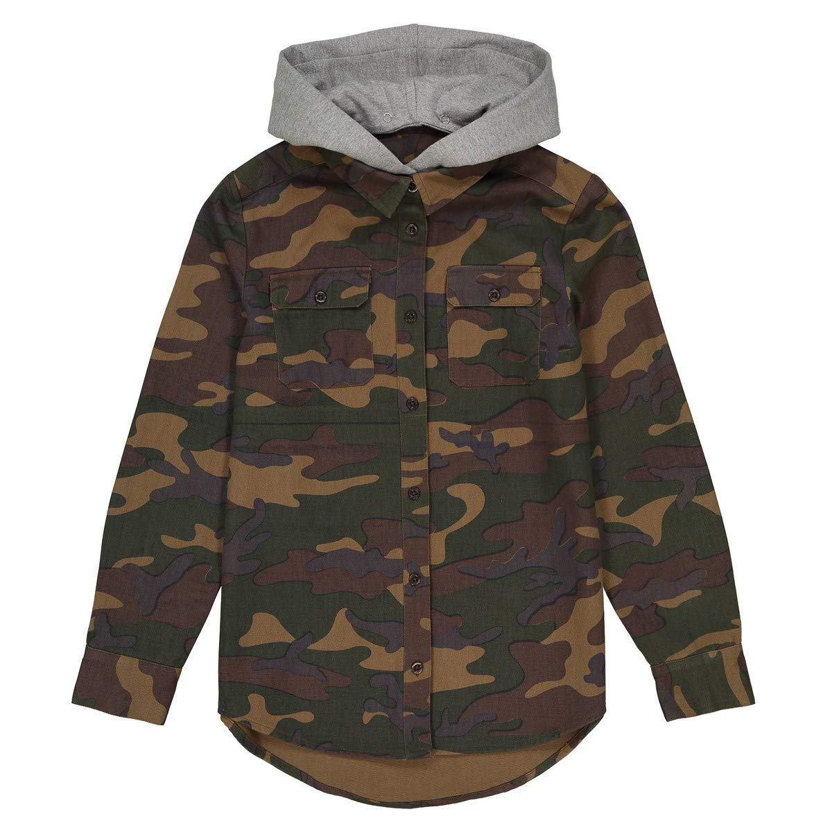 10-16 Years La Redoute Collections Big Boys Camouflage Print Hooded Shirt