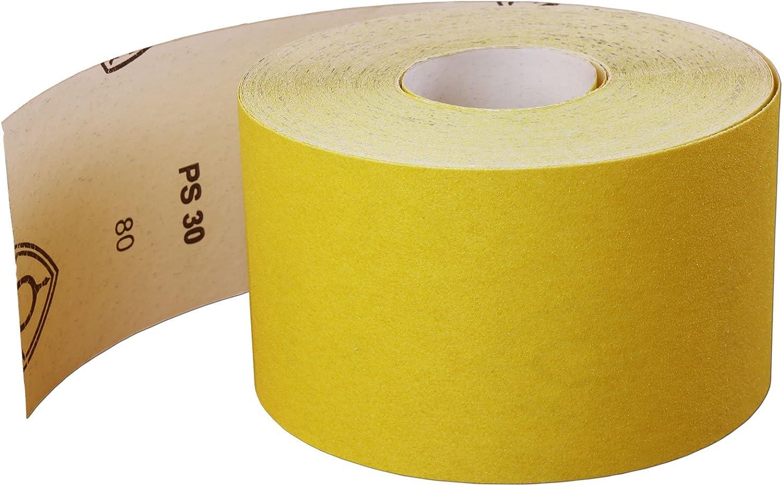 80G Very Fine Fine + 220G Klingspor - GERMANY + 120G 3x10m Aluminium Oxide Sandpaper Roll Set Medium
