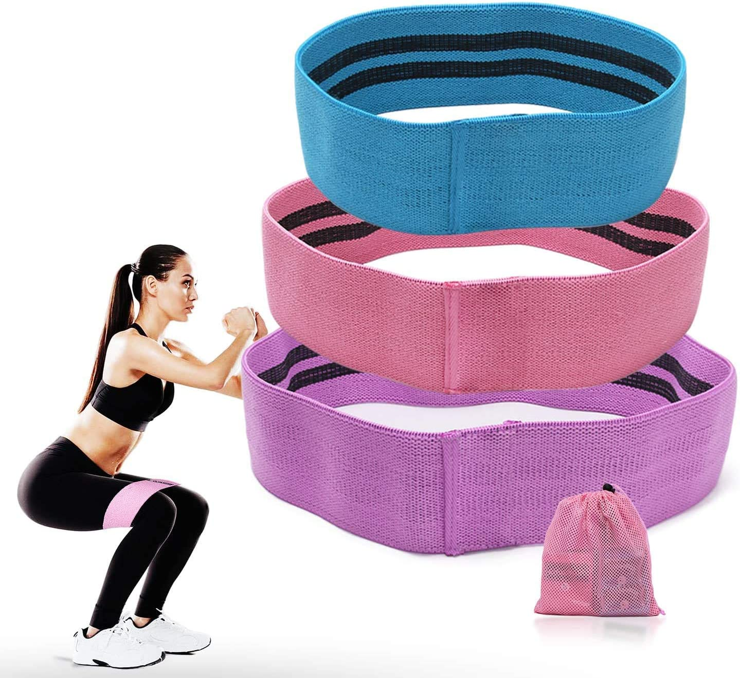 Resistance Hip Circle Band Fitness Squat Glute Booty Fitness Exercise Band LoopH