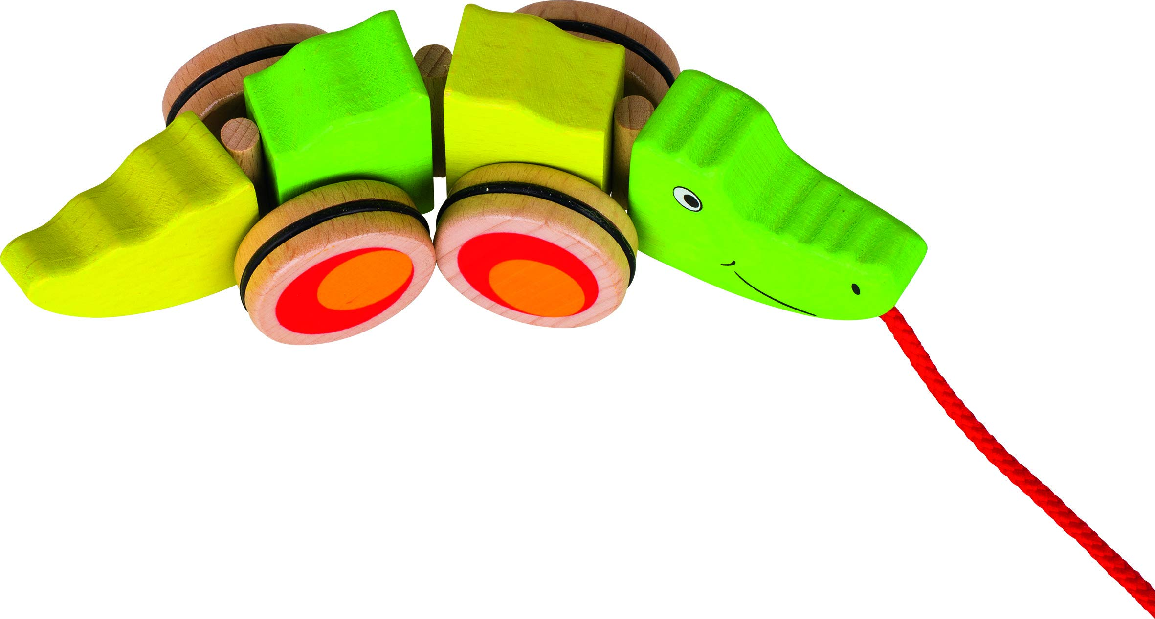 Ziehtier Krokodil Holzspielzeug