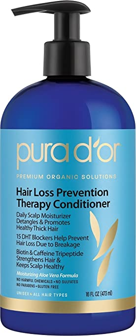 PURA D'OR Hair Loss Prevention Therapy Conditioner, 16 Fluid Ounce