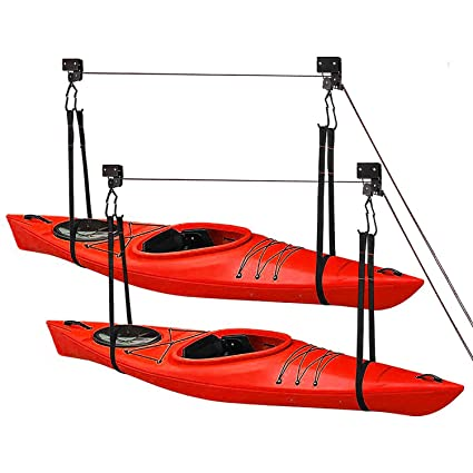 Boat Canoe Kayak Heavy Duty Hoist System Garage Lift Storage Ceiling Stoage