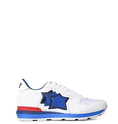 Atlantic Stars Herren ANTARBBA83R Weiss/Blau Wildleder Sneakers