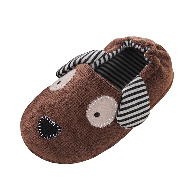 KVbaby Unisex Kids Comfort Cartoon Animal Slippers Cotton Warm Spring Autumn Winter Non-Slip House Slipper