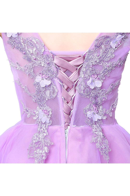 Charm Bridal Short Pink V Neck Junior Homecoming Bridesmaid Dresses for Girls
