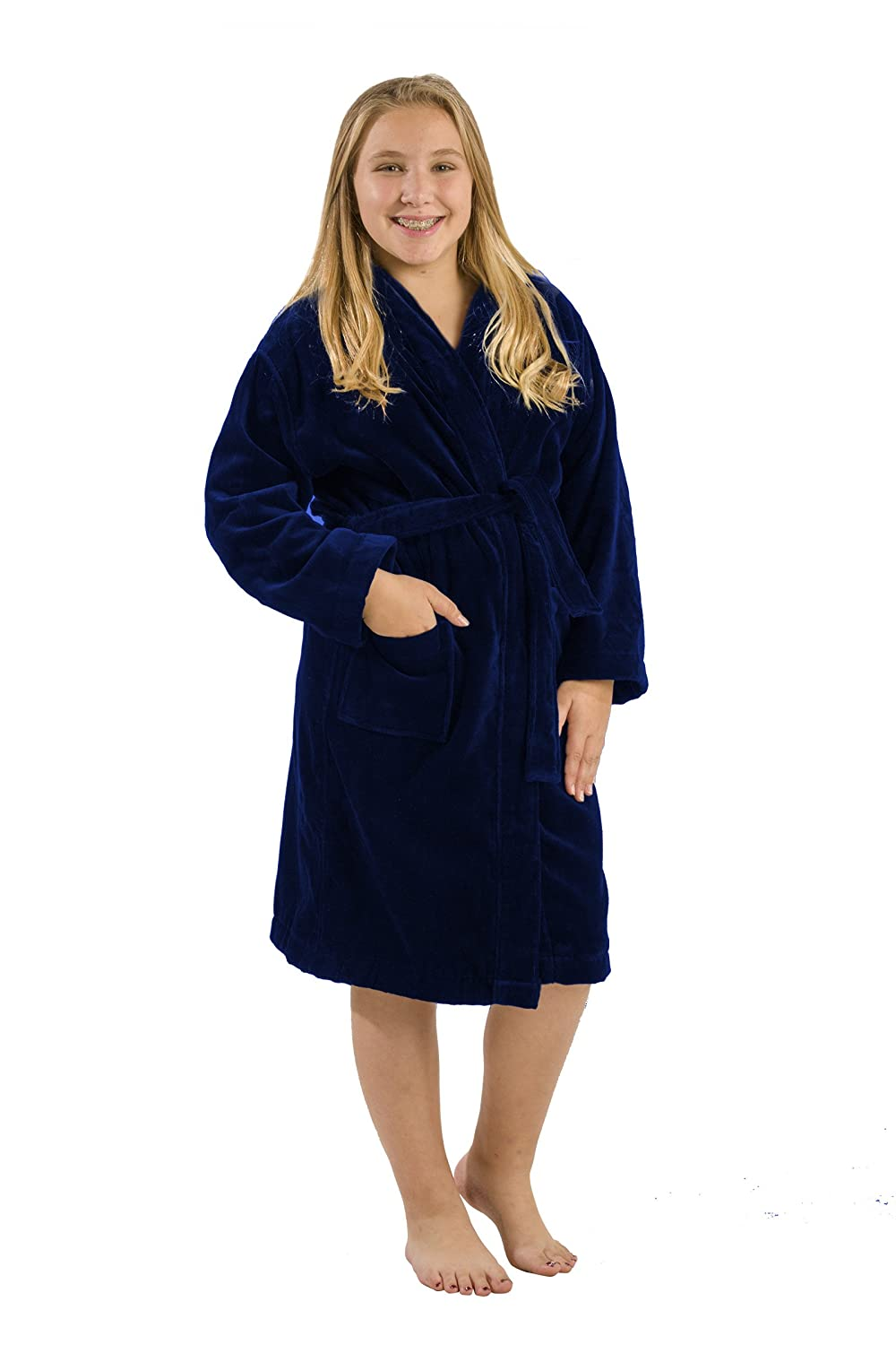90fb97d5be293 Amazon.com: byLora Kids Terry Bathrobe Robe, Cotton Hooded Robes for Boy  and Girl: Clothing