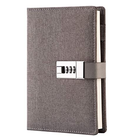 Lock Journal Combination Locking Diary Vintage Lock Planner Agenda Personal Diary