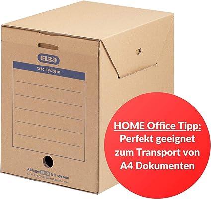 Elba 83527 - Caja de almacenamiento para archivadores y otros ...