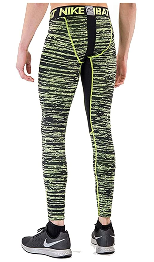 e34987b6e7 Amazon.com: Nike Men's Pro Combat Hyperwarm Dri-Fit Max Compression Camo  Tight, Black/Volt, XL X 28: Clothing