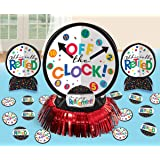 """Fun-Filled Retirement Party """"Off the Clock!"""" Table Decorating Kit, Paper"""