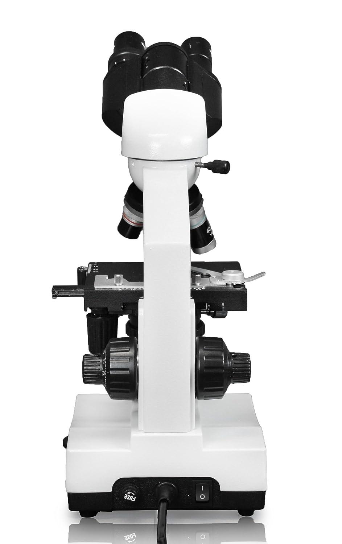 Abbe Condenser LED Illumination Coaxial Coarse /& Fine Focus 10x WF Eyepieces Vision Scientific VME0007B-100-LD Binocular Compound Microscope 1.25 N.A 40x/—1000x Magnification