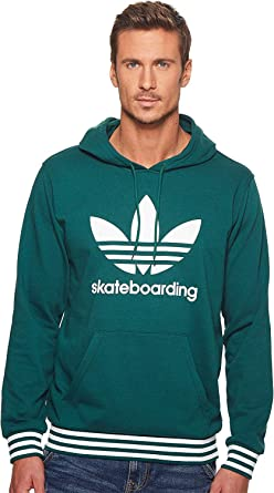 adidas Skateboarding Men s Clima 3.0 Uniform Hoodie Collegiate Green White  Medium 94e61db12411