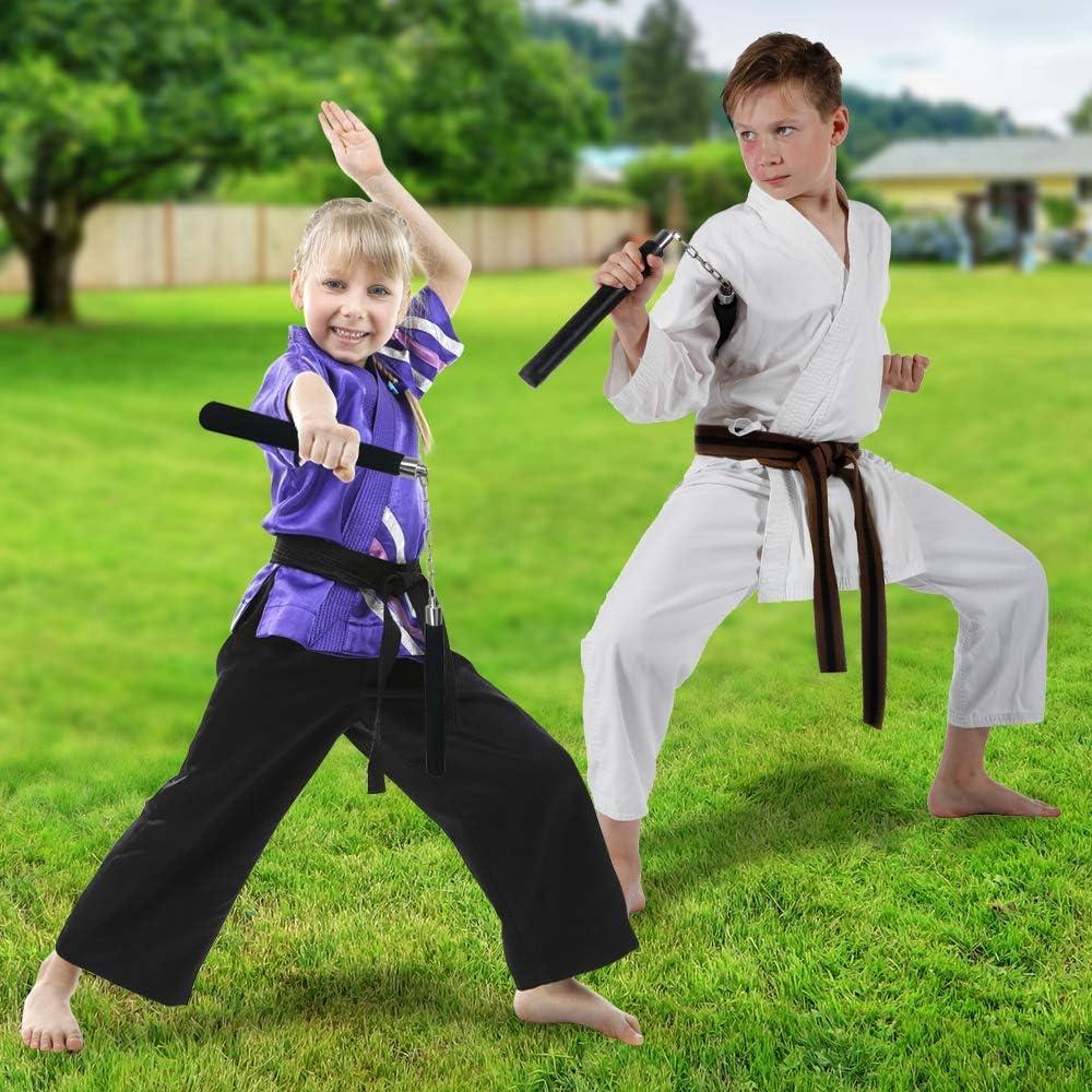 Fun Ninja Toys for Boys and Girls Set of 2 Martial Arts Training Equipment Ninja Costume Props and Party Favors ArtCreativity Foam Nunchucks for Kids Practice Nunchucks with Soft Handles