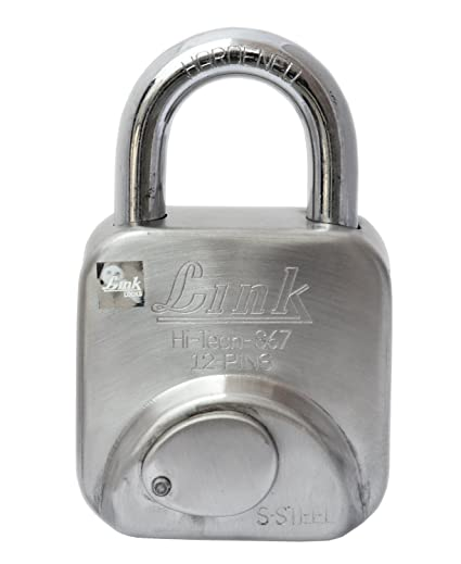 Link Hi-Tech-S67 Stainless Steel Hardened Lock 12 Pins (Silver)