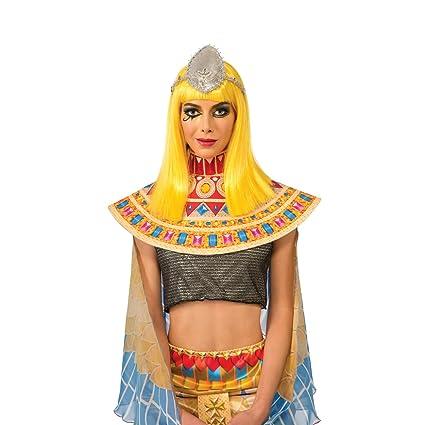 Katy Perry caballo oscuro peluca amarilla adulto Patra para mujer del traje de cantante Pop video