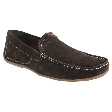 Roamers - Zapatos / Mocasines de ante real Hombre caballero (40 EU/Azul real): Amazon.es: Zapatos y complementos