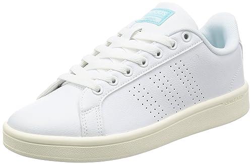 adidas Cloudfoam Advantage, Zapatillas para Mujer, Blanco ftwwht/claqua, 38 EU: Amazon.es: Zapatos y complementos