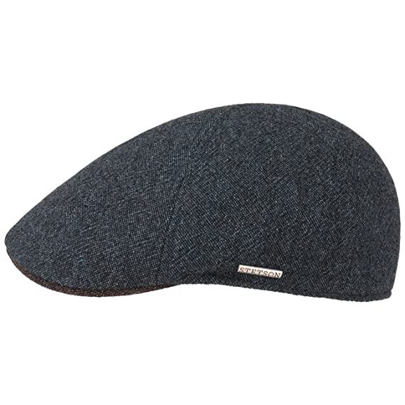 59c30859b Stetson Texas Wool Cap with Cashmere Flat hat (M (56-57 cm) - Navy ...