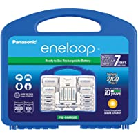 Panasonic K-KJ17MC124A Eneloop Power Pack for 12AA, 4AAA, 2 C Spacers, 2 D Spacers, Advanced Individual Battery Charger