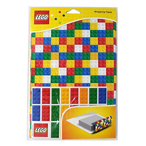 Amazon.com: Lego, Set de papel de regalo de bloques Lego ...