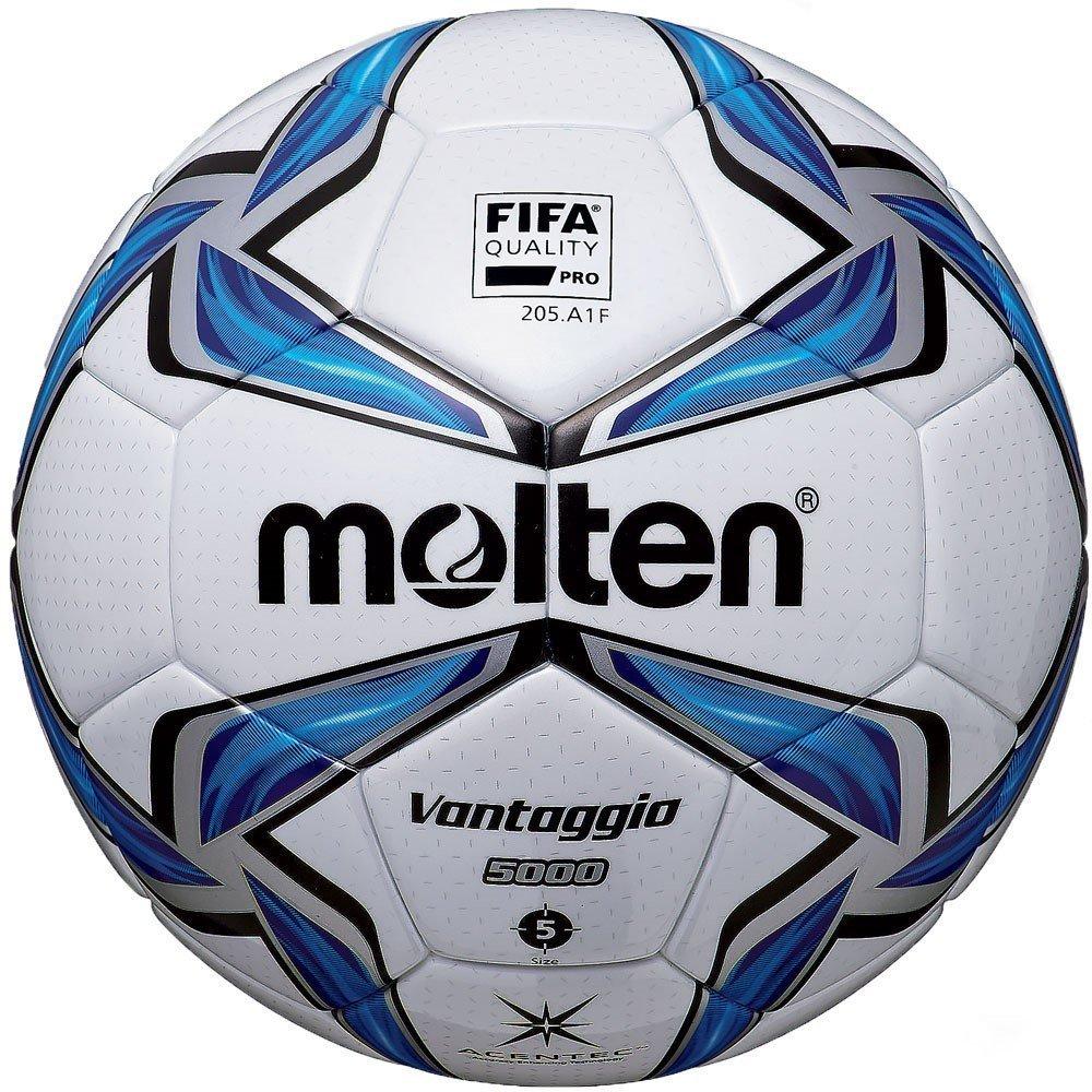 Molten Acentec Soccer Ball Size 5 Blue/Silver/White [並行輸入品] B077QH5NHM