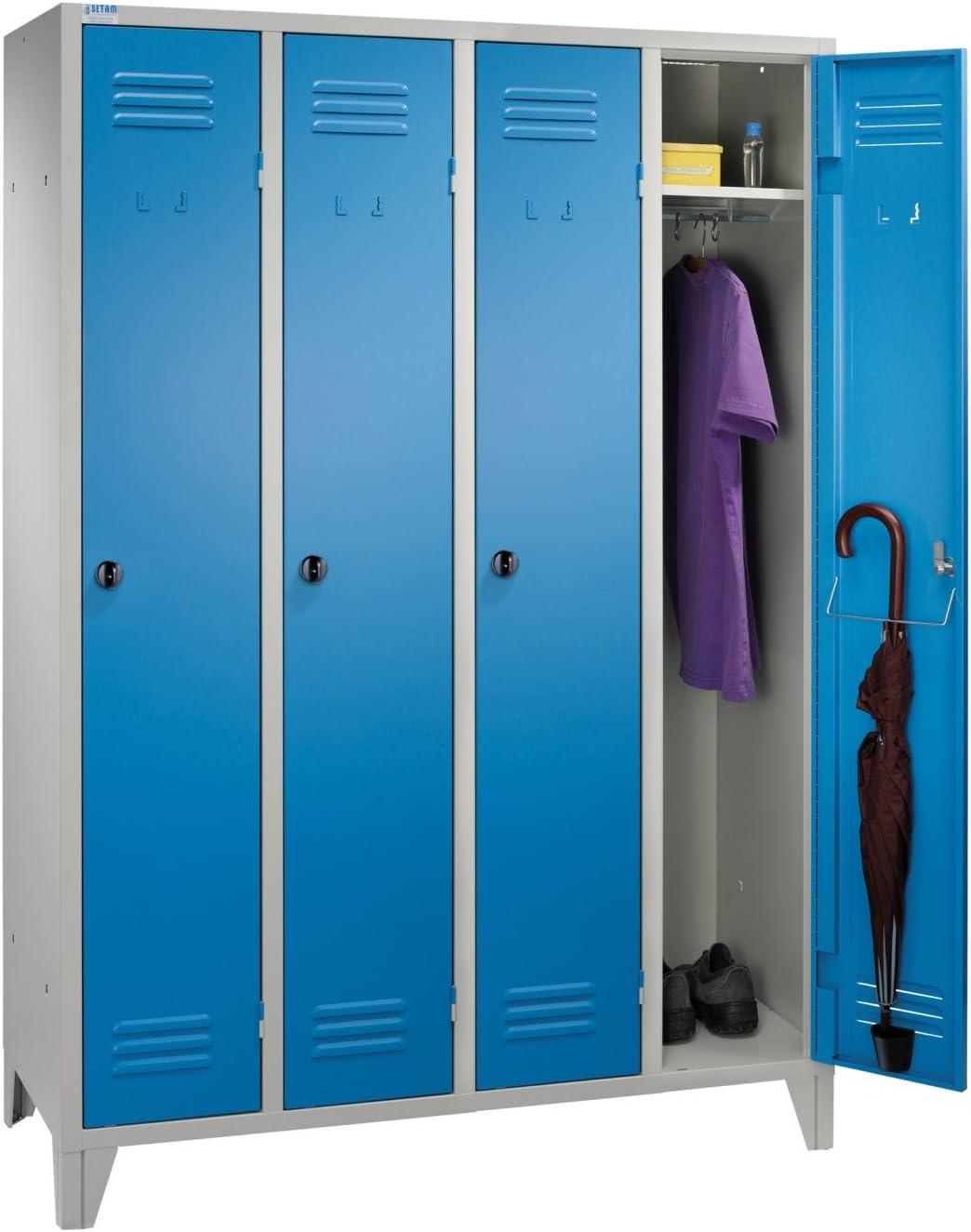 Vestiaire m/étallique 4 casiers IP coloris Bleu