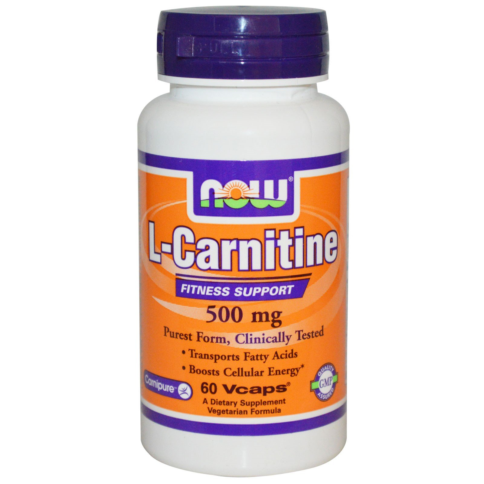 Now Foods L-Carnitine 500 mg - 60 VCaps 8 Pack