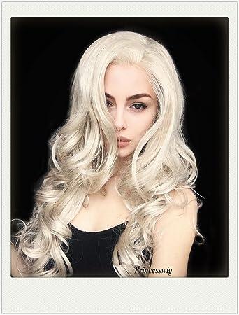 Amazon Com Princesswig Platinum Blonde Wig For Women Silky