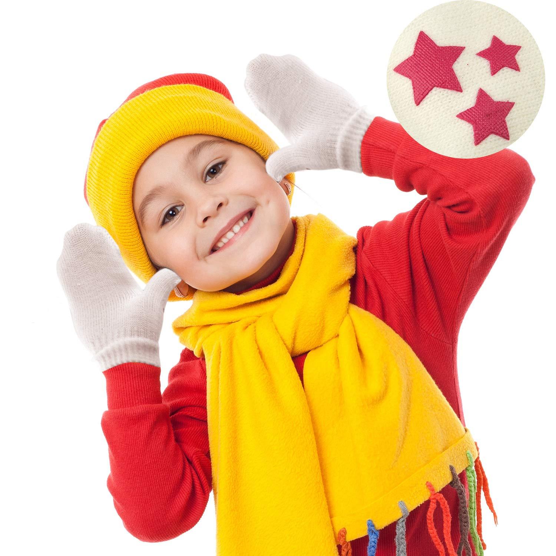 TUPARKA 12 Pair Kinder Winter Handschuhe F/äustlinge Kleine M/ädchen Weiche Strickhandschuh Baby Jungen Winter Strickhandschuhe