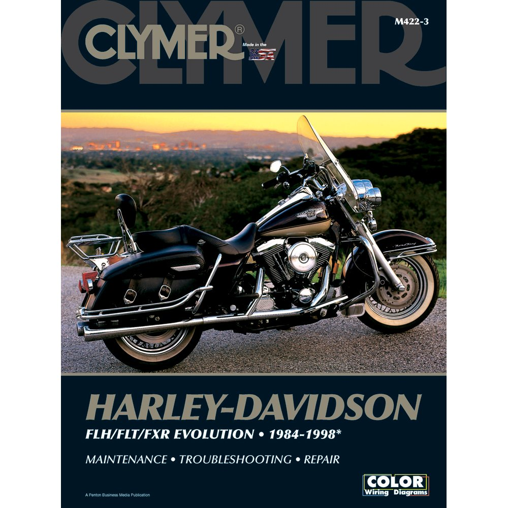 71MCGavztxL._SL1000_ amazon com clymer repair manual for harley flh flt fxr 84 98 Harley Wiring Diagram for Dummies at soozxer.org