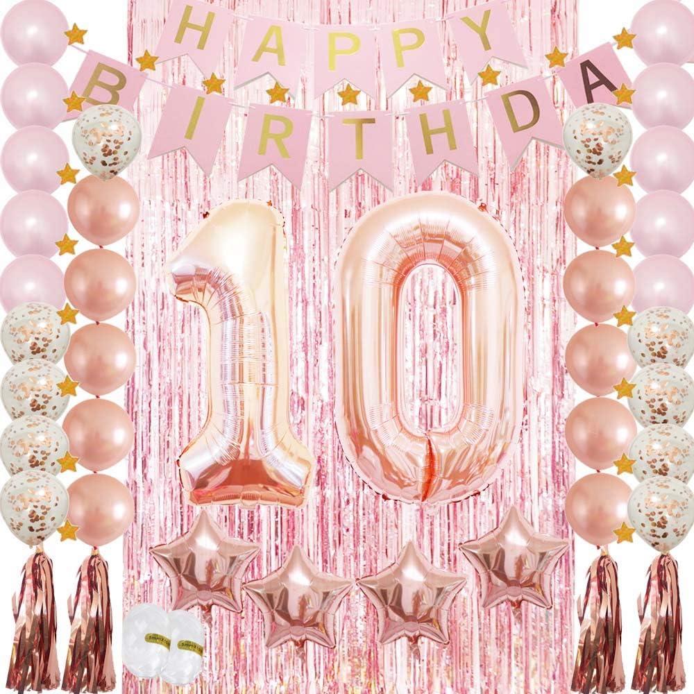 10TH BIRTHDAY STAR BALLOON 18 INCH MYLAR BIRTHDAY PARTY SUPPLIES