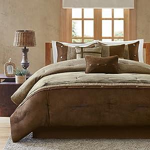 Madison Park Comforter Set, Queen, Brown