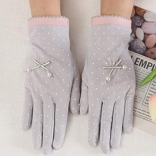 Sksngf Manopla, guantes de protección solar corta de algodón ...