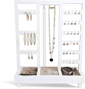 3x Earring Jewelry Black Acrylic Jewelry Display Stand Holder