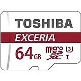 Toshiba Scheda di Memoria microSDXC 64GB - Exceria - 90MB/s - Classe 10 - UHS-I - U3 + Adattatore