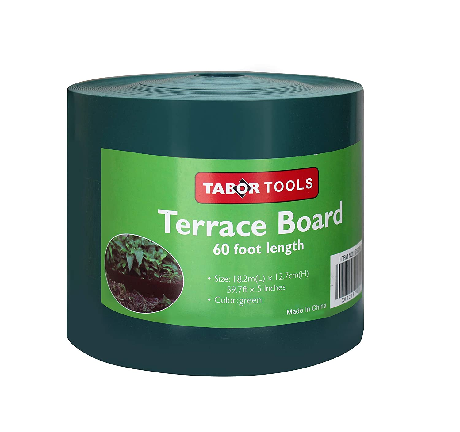 40 Feet, Black Landscape Edging Coil TABOR TOOLS Terrace Board 5 Inch High ES21. 1//25 Inch Thick
