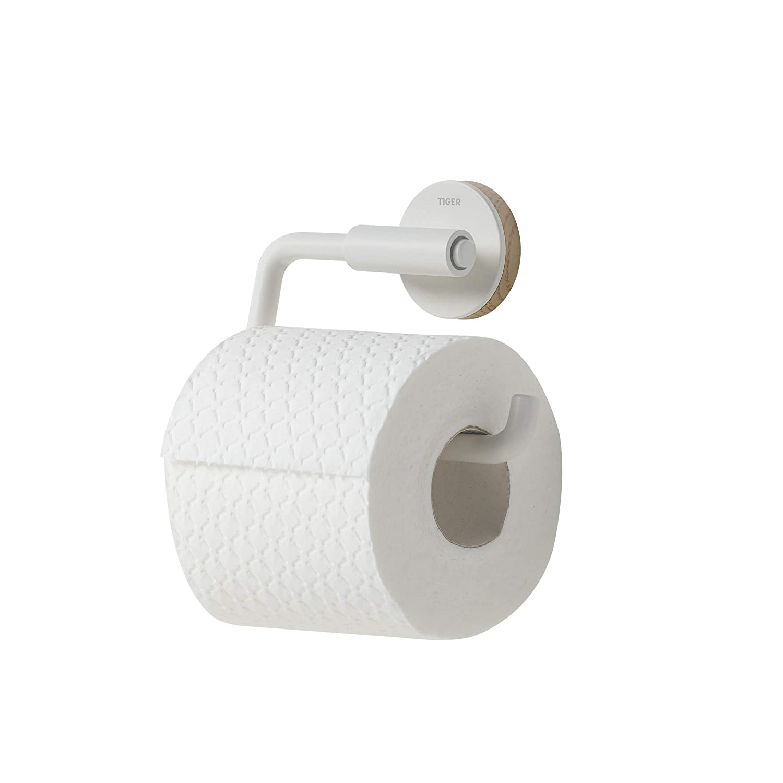 mit austauschbaren Dekor-Ringen zur individuellen Gestaltung Tiger Urban Toilettenpapierhalter schwenkbar Farbe Schwarz