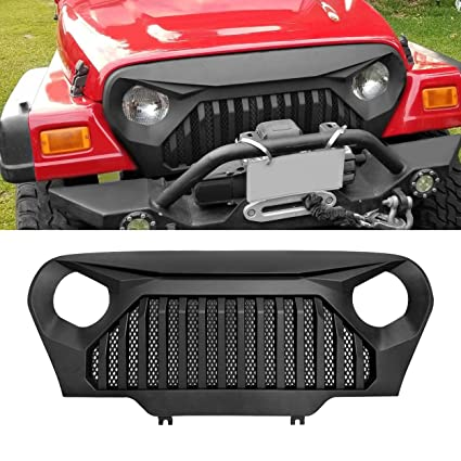 Charming ALLINONEPARTS Jeep Wrangler Grill Grille TJ Gladiator Vader Black Jeep  Wrangler Accessories TJ U0026 Unlimited,