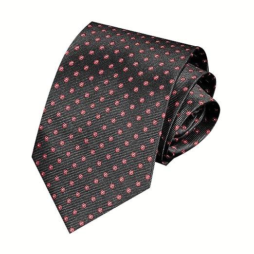 WAVENI Corbata de Corbata de Lunares a Rayas para Hombres de ...