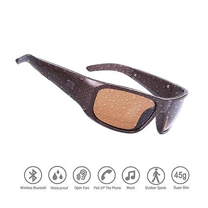 Amazon.com: Gafas de sol impermeables con Bluetooth y oreja ...