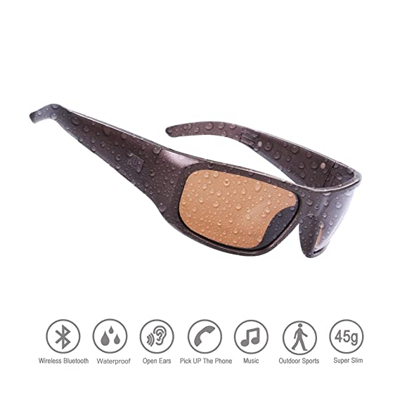 ee8ef324424 Amazon.com  Waterproof Bluetooth Sunglasses