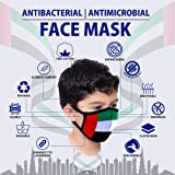 UAE Flag Kids Face Mask - 100% Cotton Antibacterial and Antimicrobial…