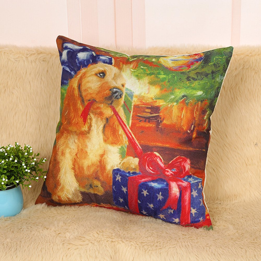 NBBZTKSS04 NEW BARLEY Christmas Dog and Cat Pillow Cover 18x18 Style 04