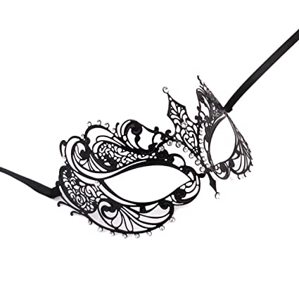 TOOGOO(R) Estilo veneciano Laser Corte de metal Filigrana Partido Masquerade Mascara Diamante