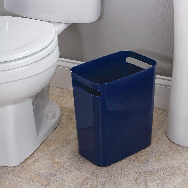 Azul Marino 30,5 cm iDesign Cubo de Basura para ba/ño